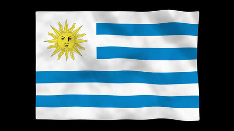 Flag A083 URY Uruguay Animation
