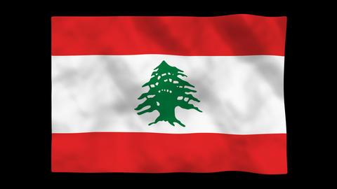 Flag A085 LBN Lebanon Animation