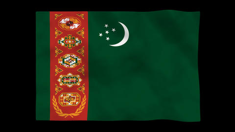 Flag A089 TKM Turkmenistan Animation