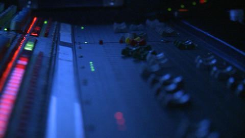 Mixing Board Faders Stock Video Footage