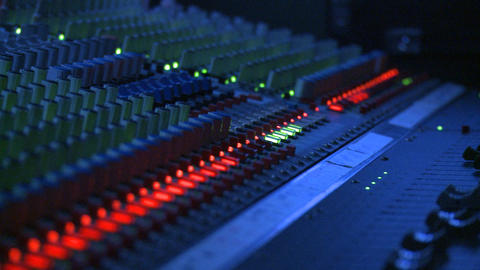 Mixing Board Faders Footage