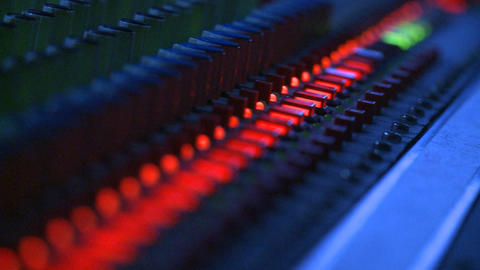 Mixing Board Buttons Stock Video Footage
