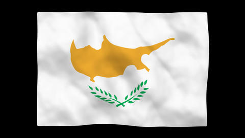 Flag A091 CYP Cyprus Stock Video Footage