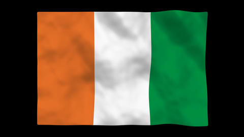 Flag A093 CIV Cote d Ivoire Animation