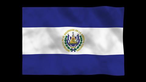 Flag A097 SLV El Salvador Animation