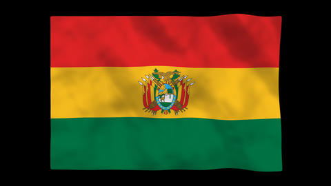 Flag A103 BOL Bolivia Animation