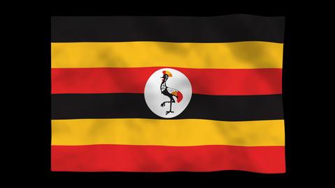 Flag A107 UGA Uganda Stock Video Footage