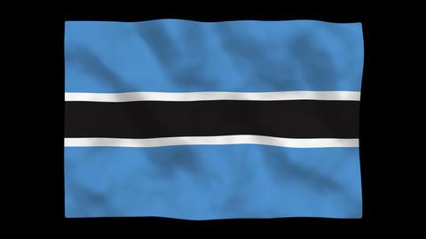Flag A111 BWA Botswana Stock Video Footage