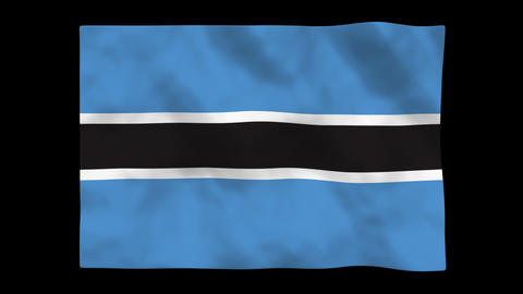 Flag A111 BWA Botswana Animation