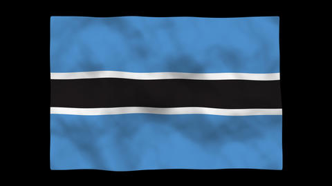 Flag A111 BWA Botswana Stock Video Footage
