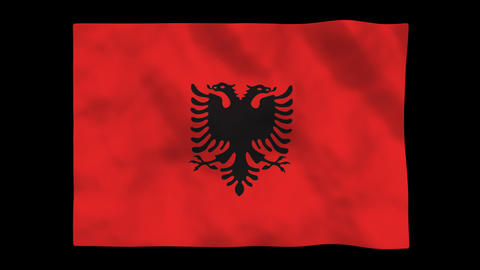 Flag A113 ALB Albania Stock Video Footage