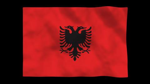 Flag A113 ALB Albania Animation