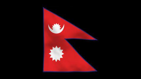 Flag A115 NPL Nepal Animation
