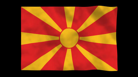 Flag A121 MKD Macedonia Animation