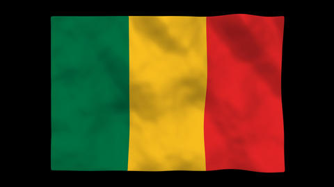 Flag A123 MLI Mali Animation