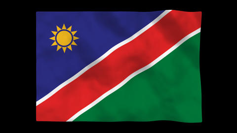 Flag A125 NAM Namibia Animation