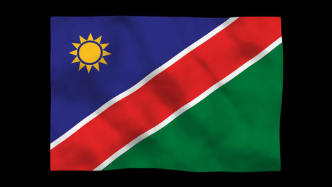 Flag A125 NAM Namibia Stock Video Footage