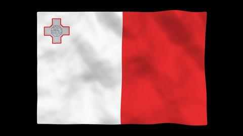 Flag A127 MLT Malta Animation
