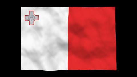 Flag A127 MLT Malta Stock Video Footage