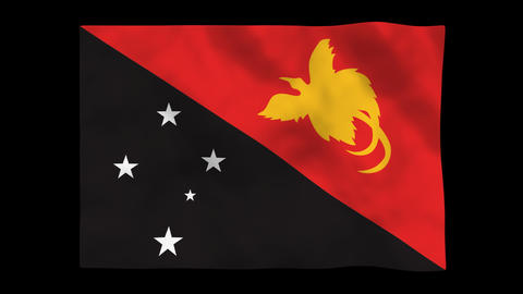 Flag A129 PNG Papua New Guinea Animation