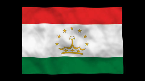 Flag A137 TJK Tajikistan Stock Video Footage