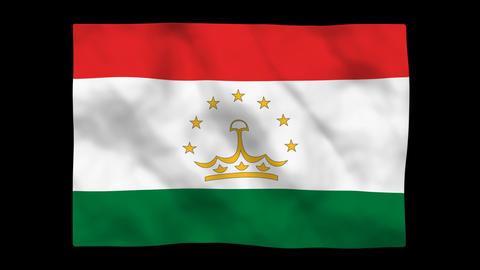 Flag A137 TJK Tajikistan Stock Video Footage