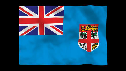Flag A143 FJI Fiji Animation