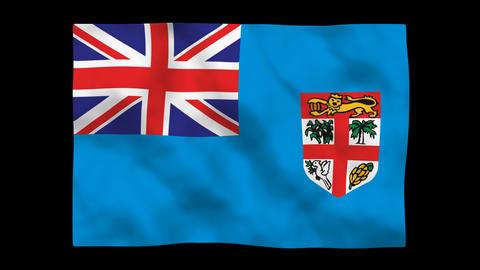 Flag A143 FJI Fiji Stock Video Footage