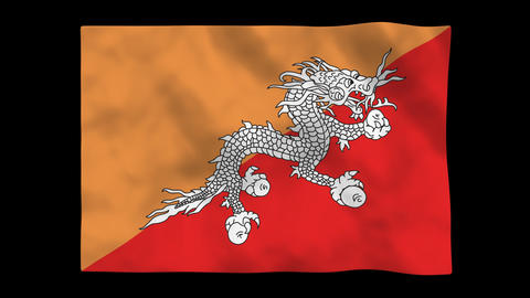 Flag A147 BTN Bhutan Animation
