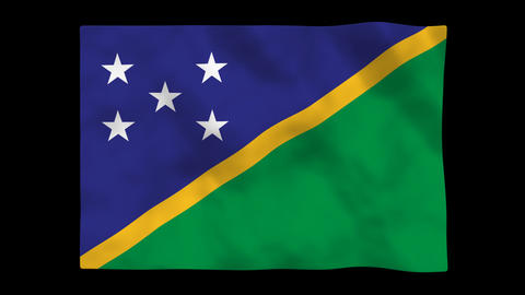 Flag A149 SLB solomon islands Animation