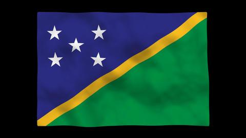 Flag A149 SLB solomon islands Stock Video Footage