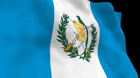 Flag B081 GTM Guatemala Stock Video Footage