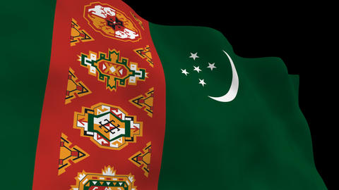 Flag B089 TKM Turkmenistan Animation