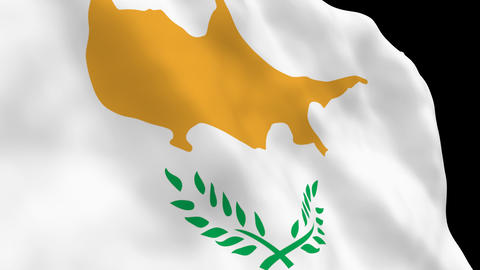 Flag B091 CYP Cyprus Stock Video Footage