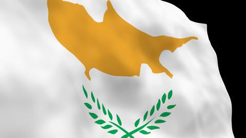 Flag B091 CYP Cyprus Stock Video Footage