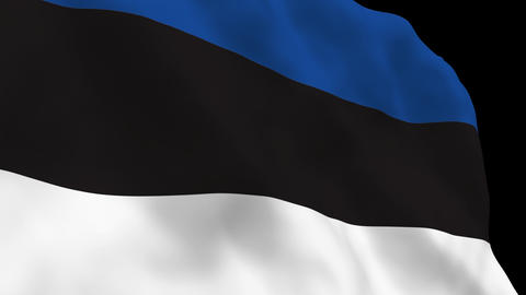 Flag B095 EST Estonia Stock Video Footage
