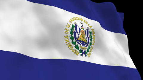 Flag B097 SLV El Salvador Animation