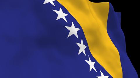 Flag B101 BIH Bosnia and Herzegovina Animation