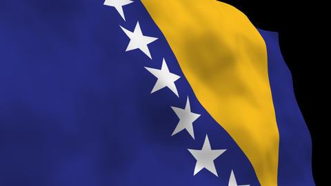Flag B101 BIH Bosnia and Herzegovina Stock Video Footage