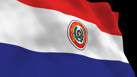 Flag B105 PRY Paraguay Stock Video Footage