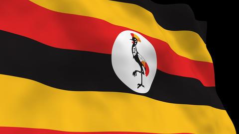 Flag B107 UGA Uganda Animation