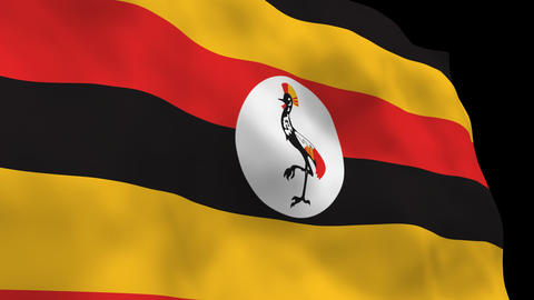 Flag B107 UGA Uganda Stock Video Footage