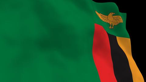 Flag B109 ZMB Zambia Animation