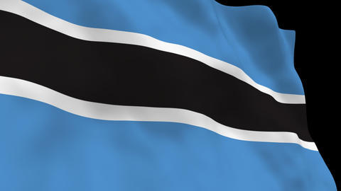 Flag B111 BWA Botswana Animation