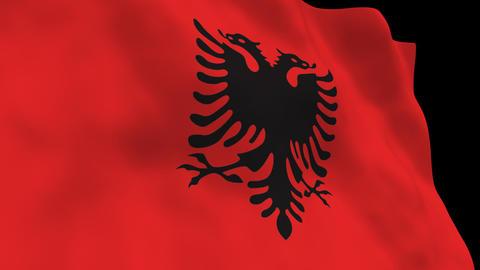 Flag B113 ALB Albania Stock Video Footage