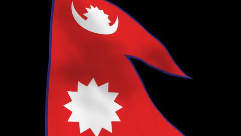 Flag B115 NPL Nepal Stock Video Footage