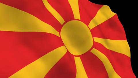 Flag B121 MKD Macedonia Stock Video Footage