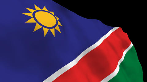 Flag B125 NAM Namibia Stock Video Footage