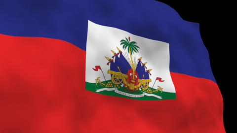 Flag B131 HTI Haiti Stock Video Footage
