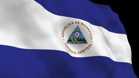 Flag B133 NIC Nicaragua Stock Video Footage